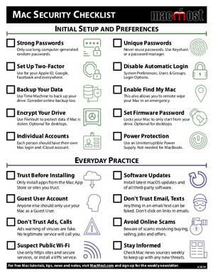 Printable Mac Security Checklist