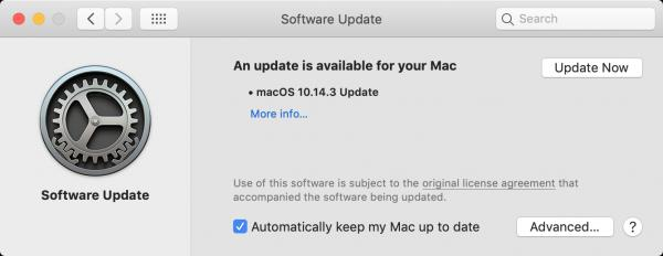 Software Update Macos 10.14.3 Mojave