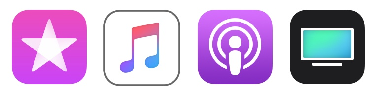 iTunes Divided? Music, Podcasts and TV Apps